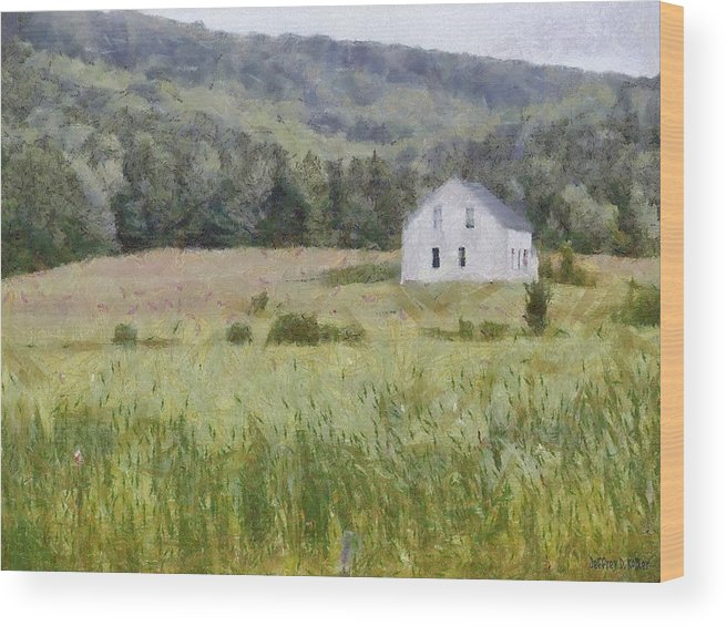 Alone Wood Print featuring the painting Idyllic Isolation by Jeffrey Kolker
