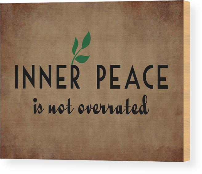 Inner Peace Wood Print featuring the digital art Inner Peace by Flo Karp