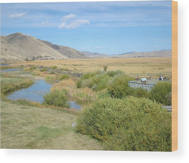 Jackson Hole Wood Print featuring the photograph Jackson Hole Wyoming by Susan Woodward