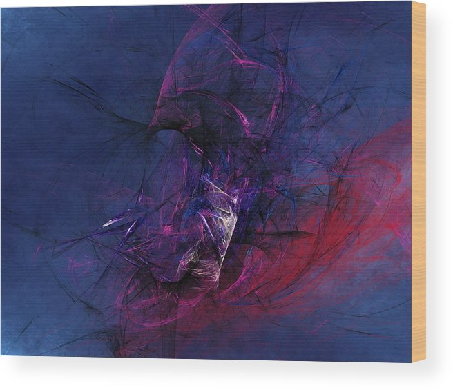 Abstract Wood Print featuring the digital art Knowledgeable Ignorance by Jeff Iverson