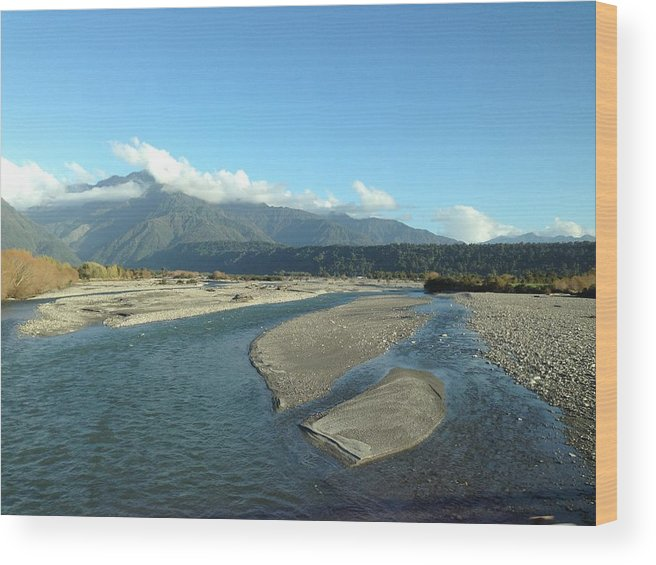 Lake Wood Print featuring the photograph Lake by Ron Torborg
