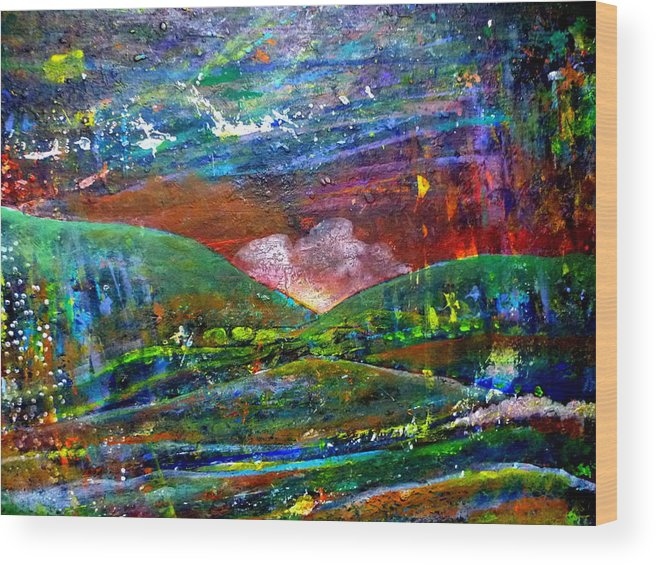 Acrylic Wood Print featuring the painting Landscape 130408-5 by Aquira Kusume