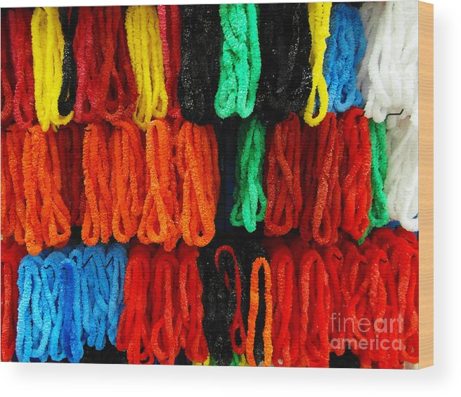 Color Wood Print featuring the photograph Leis by Mark Thomas