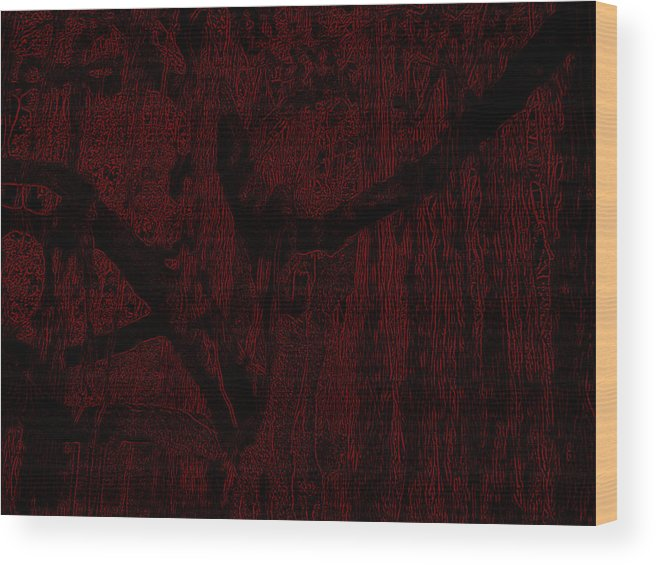 Abstract Wood Print featuring the digital art Lines by Bliss Of Art