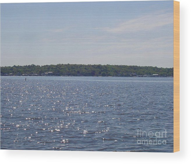 Long Island Sun At Midday Wood Print featuring the photograph Long Island Sun At Midday by John Telfer