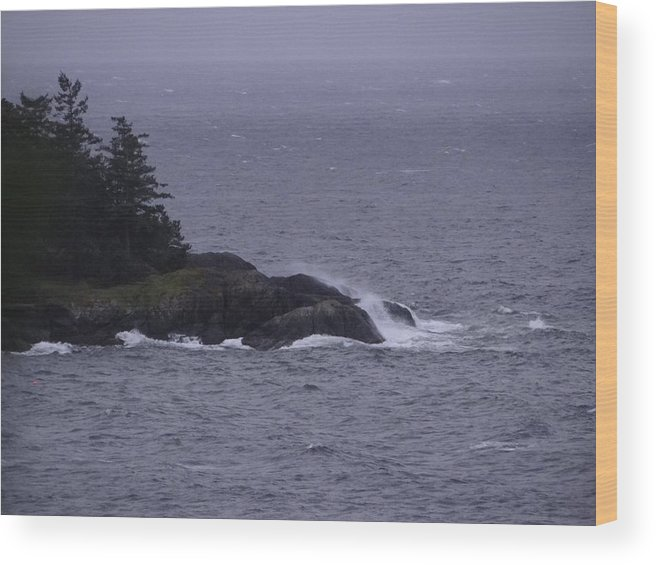 Landscape Seascape Pacific Ocean Island Wood Print featuring the photograph Lookin Out My Back Door by Glenda L Nikirk