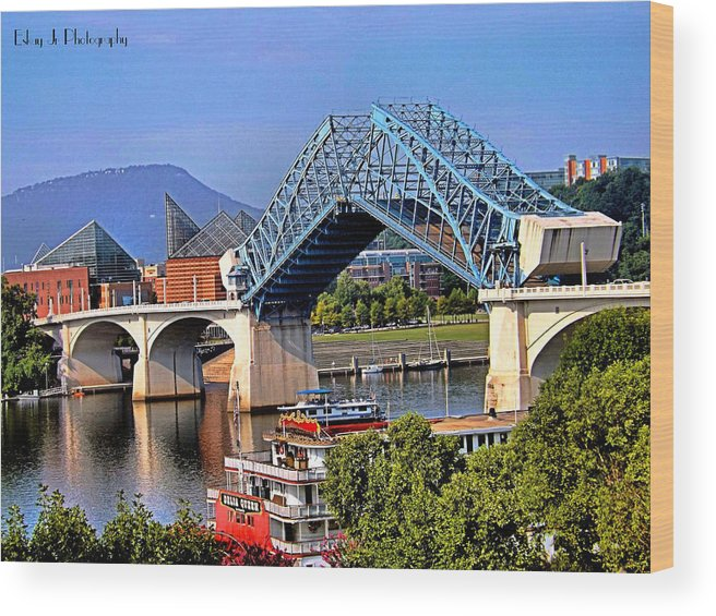 Bridge Wood Print featuring the photograph Market Street Bridge Rising by Shelley King Jr