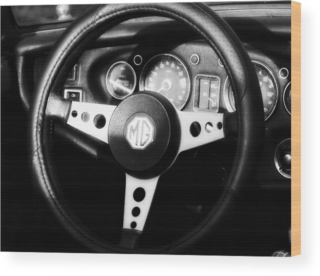 Mgb Wood Print featuring the photograph Mg Dashboard by Denise Beverly