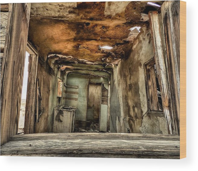 Mojave Desert Wood Print featuring the photograph Mojave Hdr 016 by Lance Vaughn