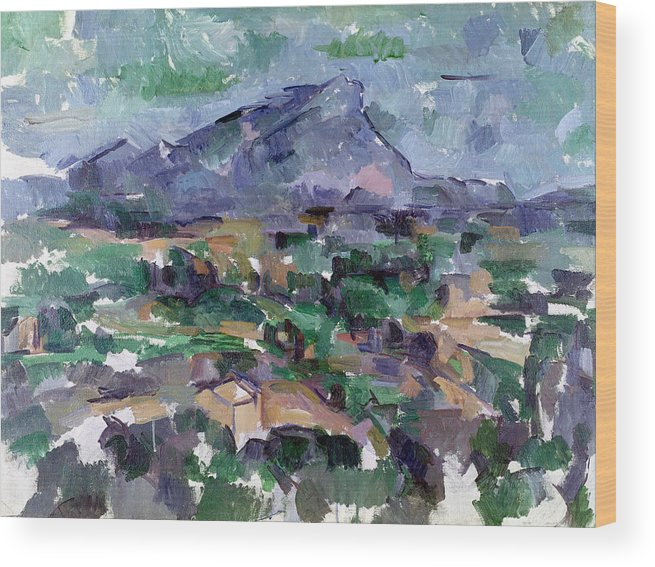 3f4557efd382 Landscape Wood Print featuring the painting Montagne Sainte-victoire by  Paul Cezanne