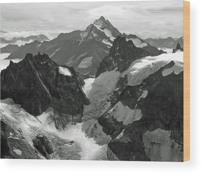 Mt. Titlis Wood Print featuring the photograph Mt. Titlis by Russell Todd