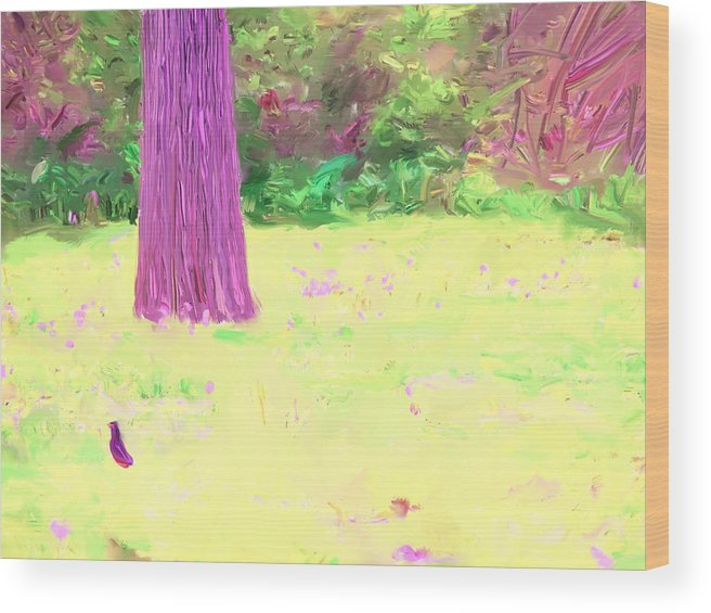 Tree Wood Print featuring the painting Nature Painting / Digital Art by Magdalena George