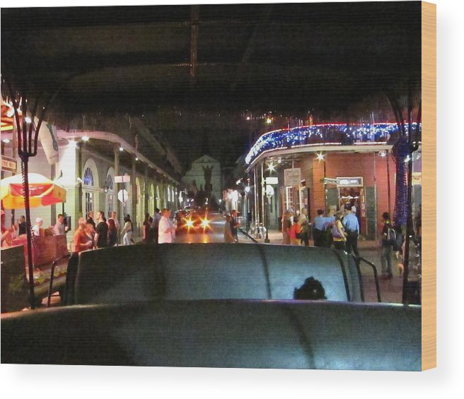 New Wood Print featuring the photograph New Orleans - City At Night - 121217 by DC Photographer