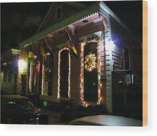 New Wood Print featuring the photograph New Orleans - City At Night - 121219 by DC Photographer