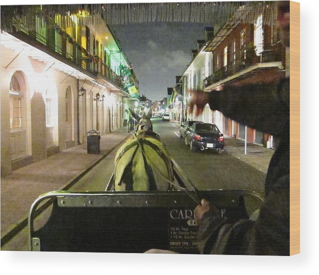 New Wood Print featuring the photograph New Orleans - City At Night - 121222 by DC Photographer