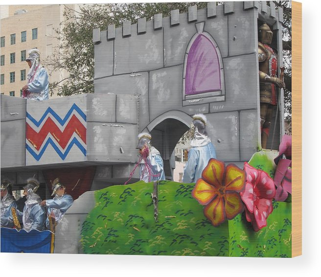 New Wood Print featuring the photograph New Orleans - Mardi Gras Parades - 1212104 by DC Photographer