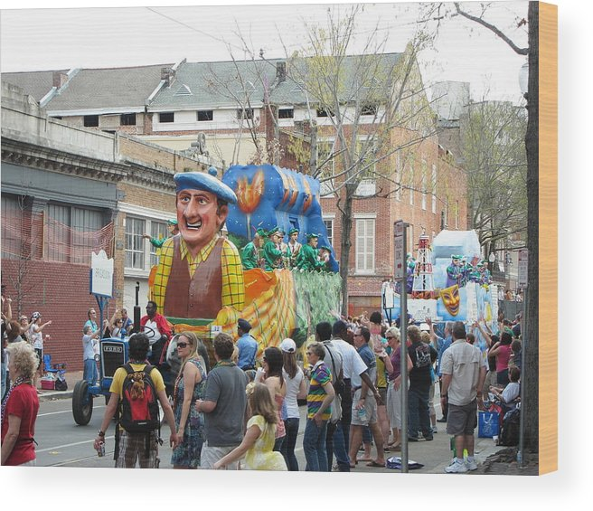 New Wood Print featuring the photograph New Orleans - Mardi Gras Parades - 1212125 by DC Photographer