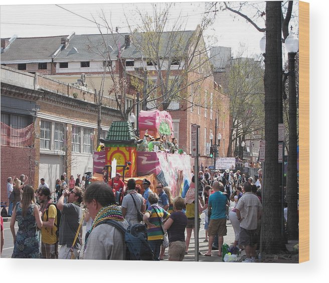 New Wood Print featuring the photograph New Orleans - Mardi Gras Parades - 1212131 by DC Photographer