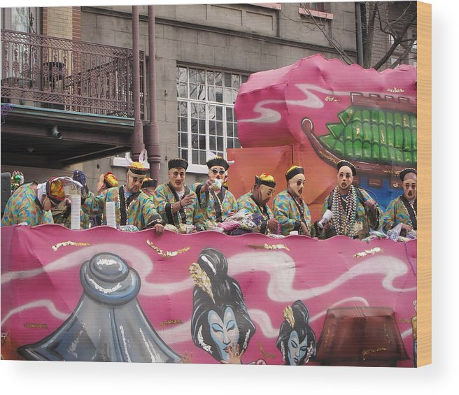New Wood Print featuring the photograph New Orleans - Mardi Gras Parades - 1212133 by DC Photographer