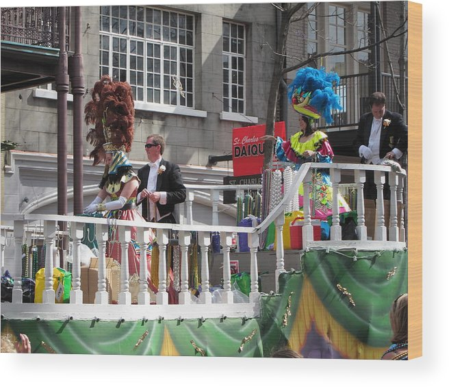 New Wood Print featuring the photograph New Orleans - Mardi Gras Parades - 1212144 by DC Photographer
