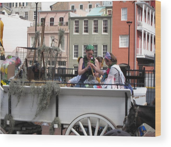 New Wood Print featuring the photograph New Orleans - Mardi Gras Parades - 1212145 by DC Photographer