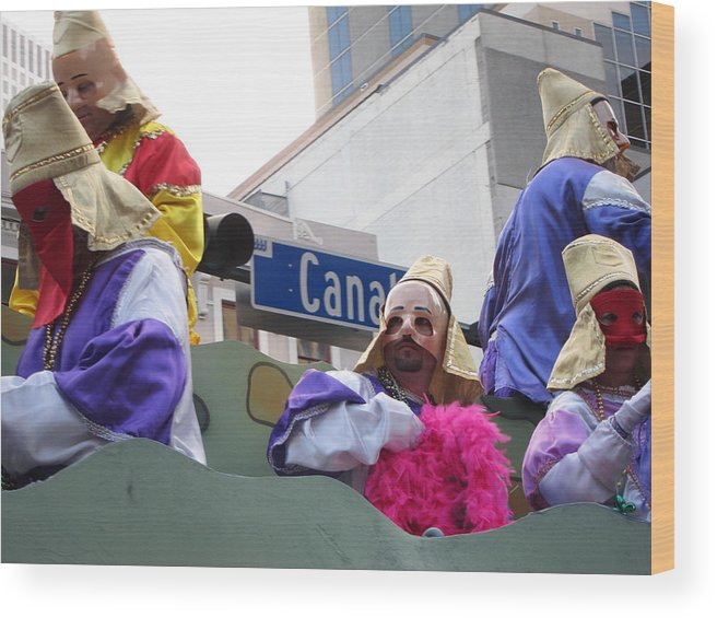 New Wood Print featuring the photograph New Orleans - Mardi Gras Parades - 121218 by DC Photographer