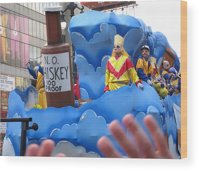 New Wood Print featuring the photograph New Orleans - Mardi Gras Parades - 121221 by DC Photographer