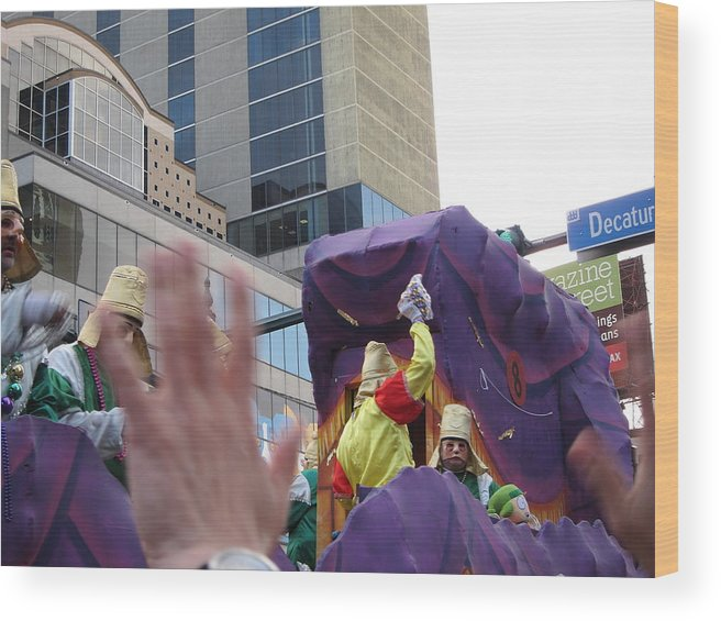 New Wood Print featuring the photograph New Orleans - Mardi Gras Parades - 121229 by DC Photographer