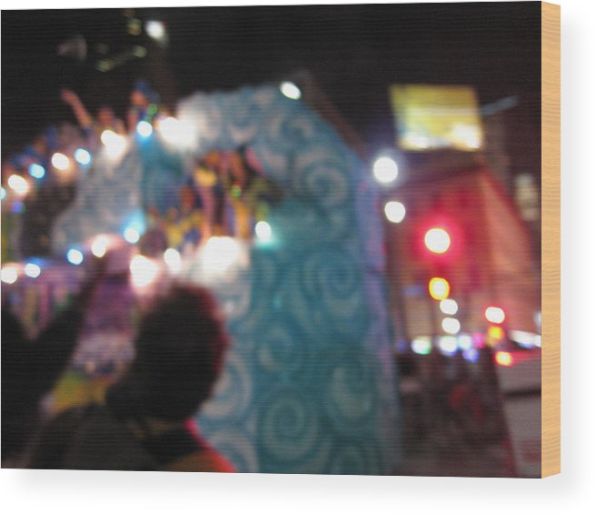 New Wood Print featuring the photograph New Orleans - Mardi Gras Parades - 121247 by DC Photographer