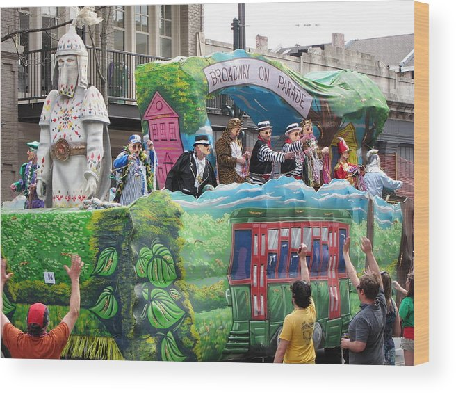 New Wood Print featuring the photograph New Orleans - Mardi Gras Parades - 121278 by DC Photographer