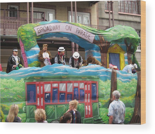 New Wood Print featuring the photograph New Orleans - Mardi Gras Parades - 121282 by DC Photographer