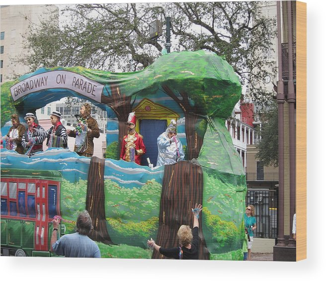 New Wood Print featuring the photograph New Orleans - Mardi Gras Parades - 121283 by DC Photographer