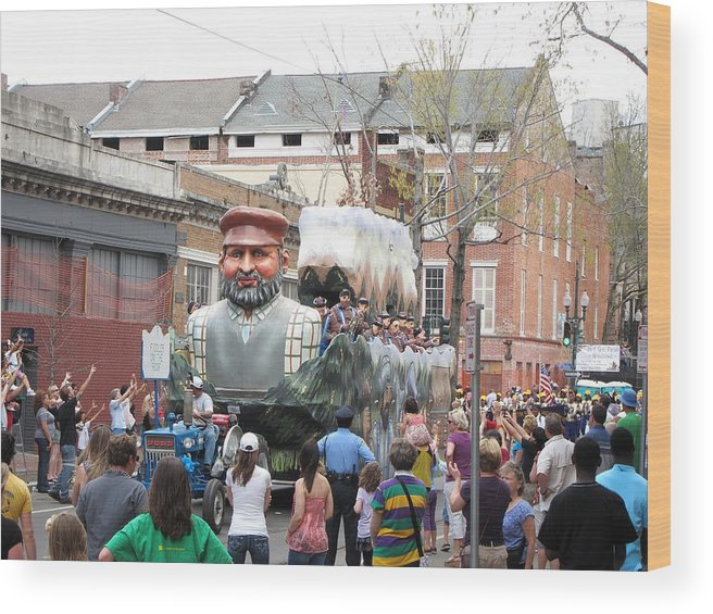 New Wood Print featuring the photograph New Orleans - Mardi Gras Parades - 121285 by DC Photographer
