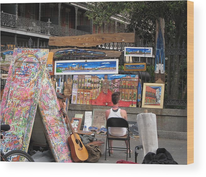 New Wood Print featuring the photograph New Orleans - Seen On The Streets - 121249 by DC Photographer