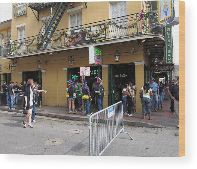 New Wood Print featuring the photograph New Orleans - Seen On The Streets - 12126 by DC Photographer