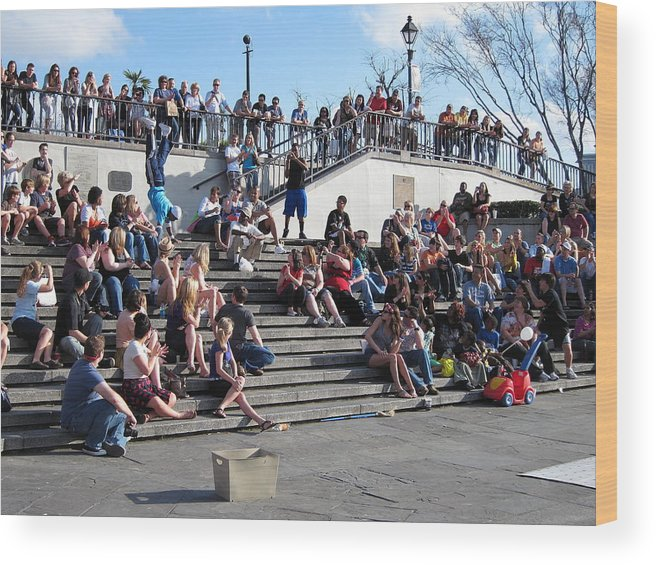 New Wood Print featuring the photograph New Orleans - Street Performers - 12121 by DC Photographer