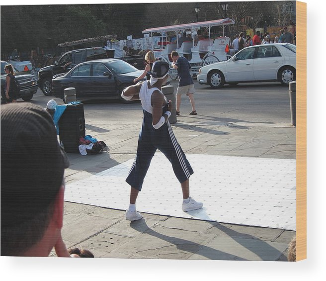 New Wood Print featuring the photograph New Orleans - Street Performers - 121219 by DC Photographer