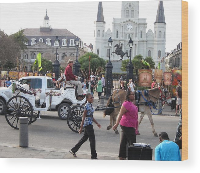 New Wood Print featuring the photograph New Orleans - Street Performers - 12127 by DC Photographer