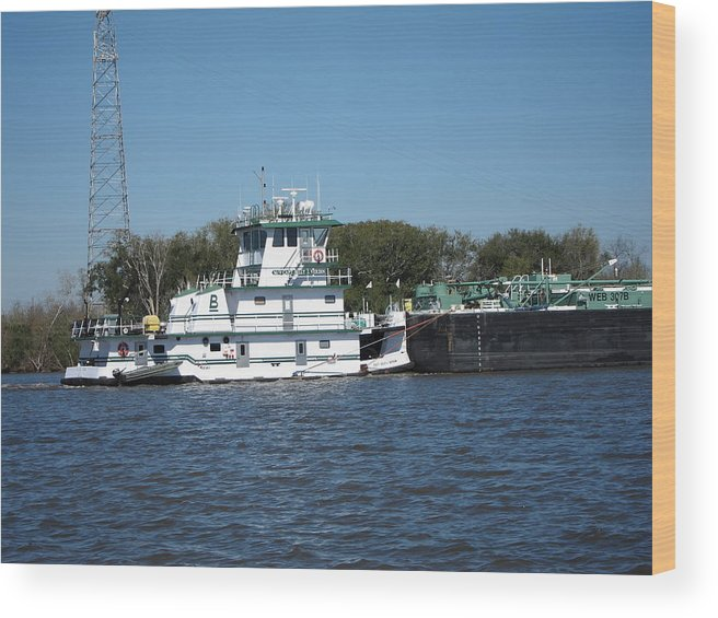 New Wood Print featuring the photograph New Orleans - Swamp Boat Ride - 121229 by DC Photographer