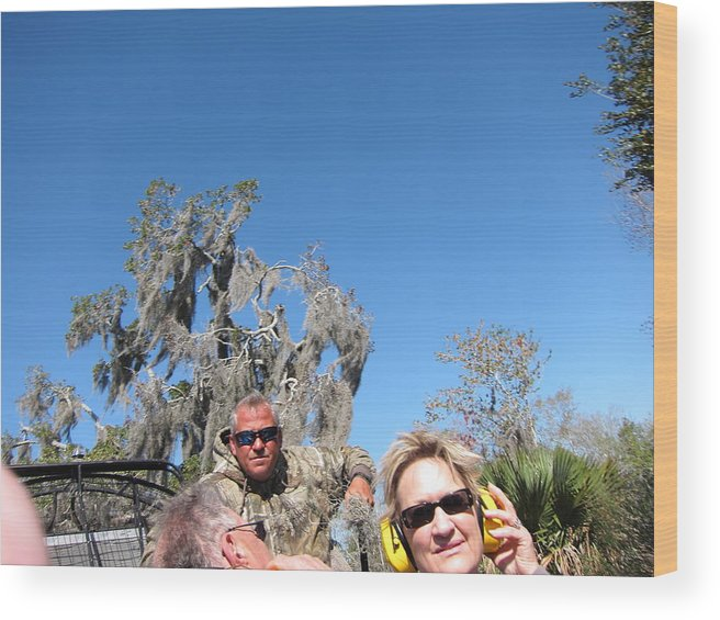New Wood Print featuring the photograph New Orleans - Swamp Boat Ride - 121240 by DC Photographer