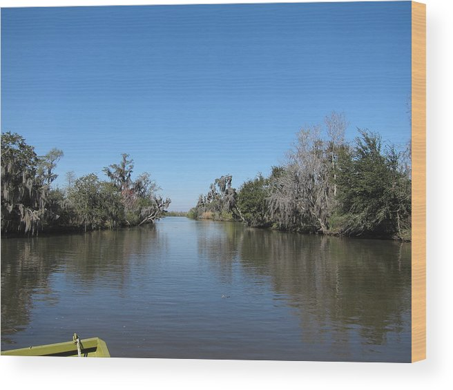 New Wood Print featuring the photograph New Orleans - Swamp Boat Ride - 121243 by DC Photographer