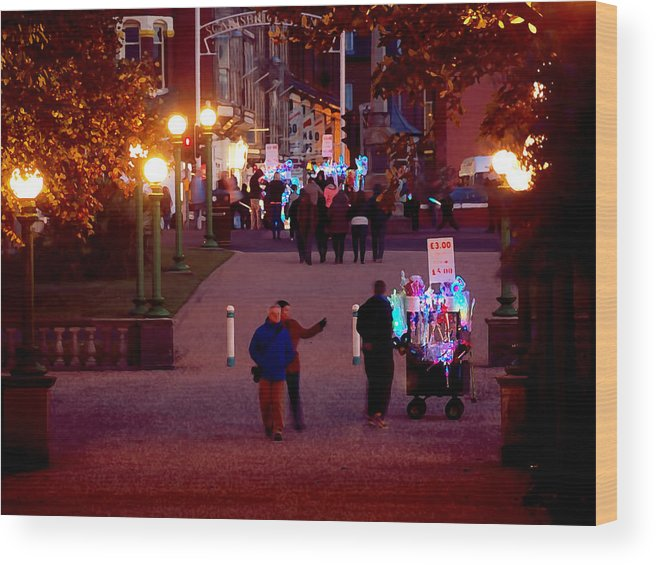 Southport Wood Print featuring the photograph Night On The Town by Susan Tinsley
