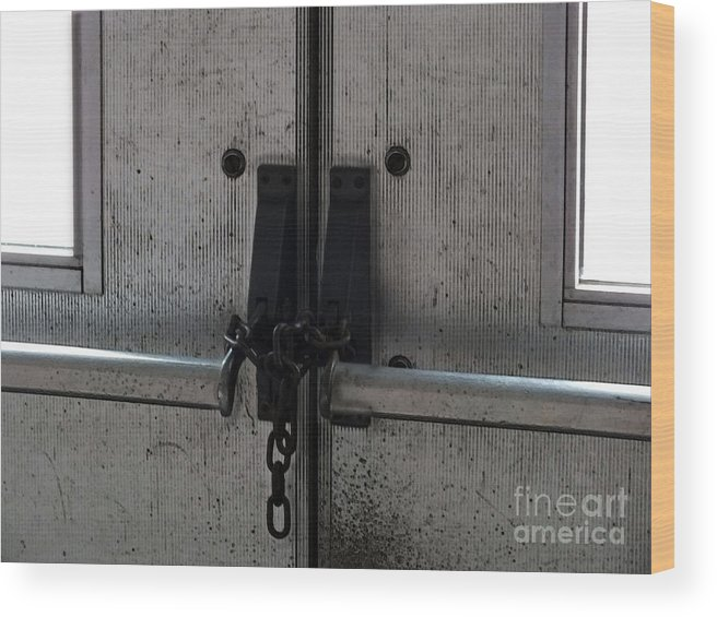 Doors Wood Print featuring the photograph No Way Out by Melissa Lightner