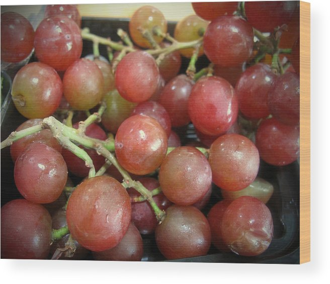 Grapes Wood Print featuring the photograph Not Sour Grapes by Barbara McDevitt