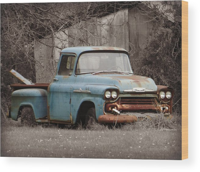 Old Chevy Truck >> Old Chevy Truck Wood Print