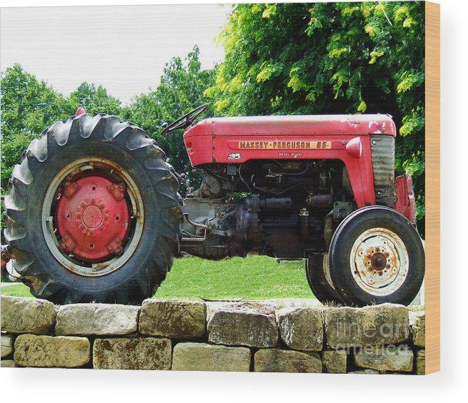 Farm Wood Print featuring the photograph Old Faithful by Scott B Bennett