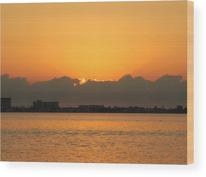 Scene Wood Print featuring the photograph Orange Skies by Cynthia N Couch