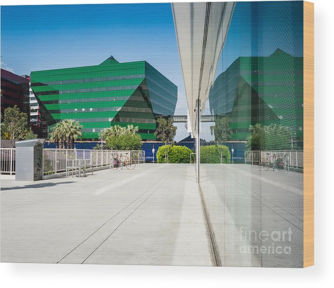 Pdc Wood Print featuring the photograph Pacific Design Center In La by Konstantin Sutyagin