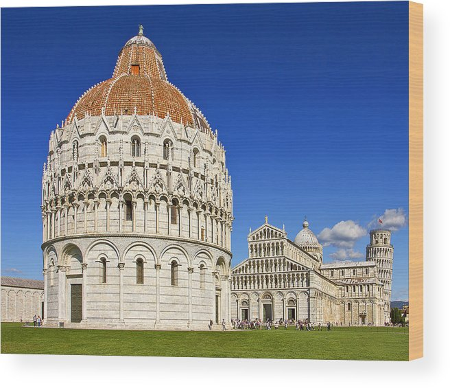 Pisa Wood Print featuring the photograph Pisa - Piazza Dei Miracoli by Kim Andelkovic