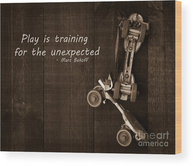 Play Wood Print featuring the photograph Play Is Training For The Unexpected by Edward Fielding